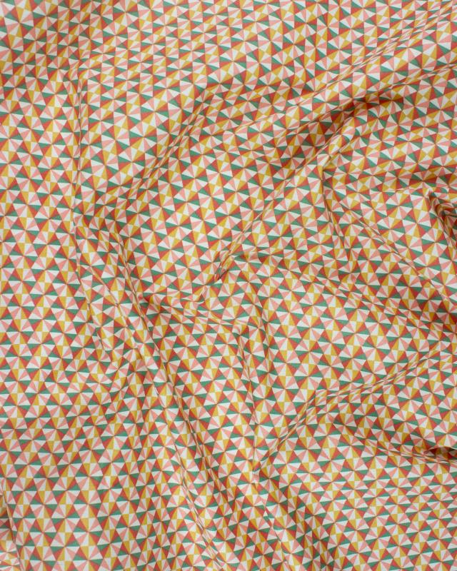 Cotton Popelin - Ponzo Salmon / Ocher - Tissushop