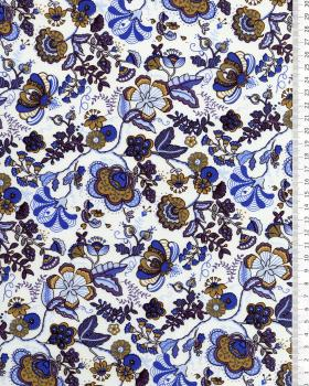 Juliet printed cotton Blue - Tissushop