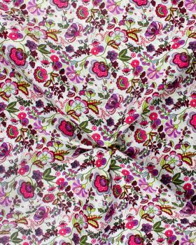 Juliet printed cotton Pink - Tissushop