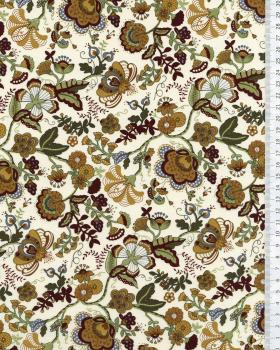 Juliet printed cotton Brown - Tissushop