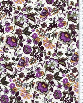 Juliet printed cotton Purple - Tissushop