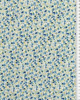 Elisa printed cotton Blue - Tissushop