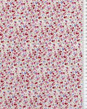 Elisa printed cotton Pink - Tissushop