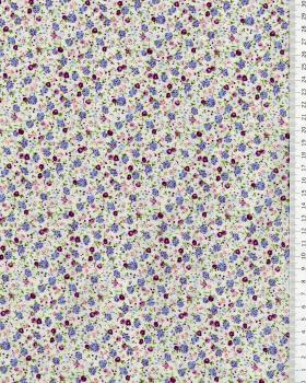 Elisa printed cotton Purple - Tissushop