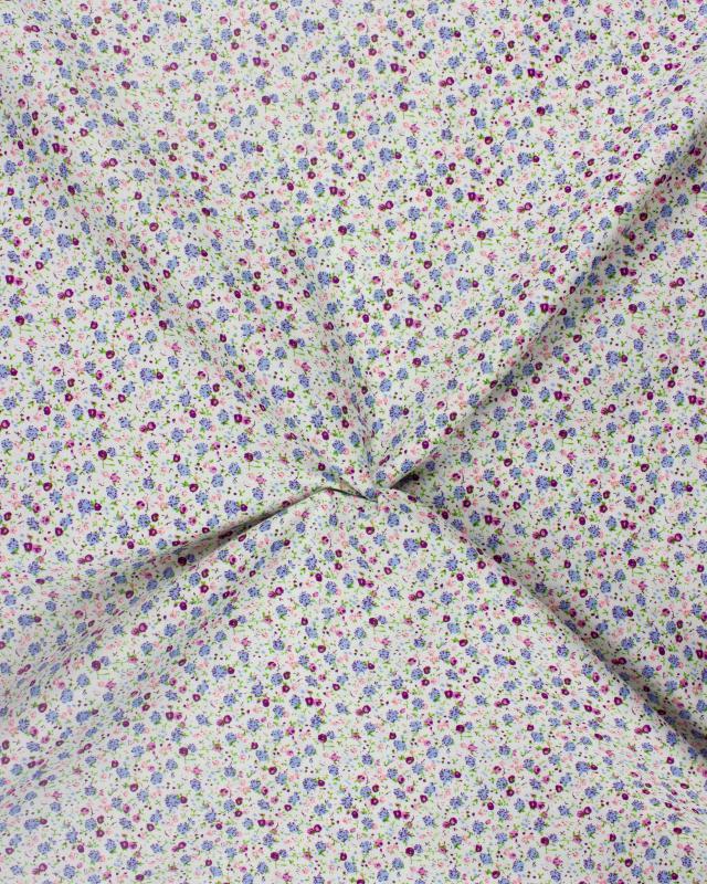 Elisa printed cotton Purple - Tissushop
