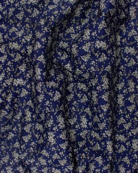 Coton imprimé Lena Bleu - Tissushop