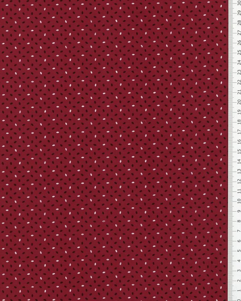 Popeline de Coton imprimée Grain de Riz Rouge - Tissushop