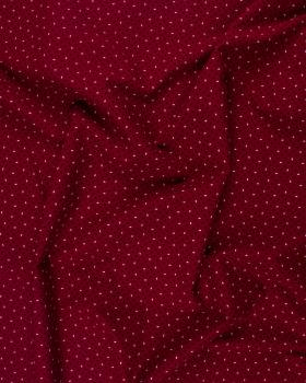 Rice Grain Printed Cotton Popelin Red - Tissushop