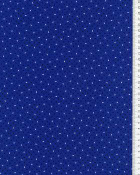 Rice Grain Printed Cotton Popelin Blue - Tissushop