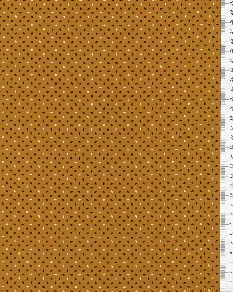 Popeline de Coton imprimée Grain de Riz Moutarde - Tissushop