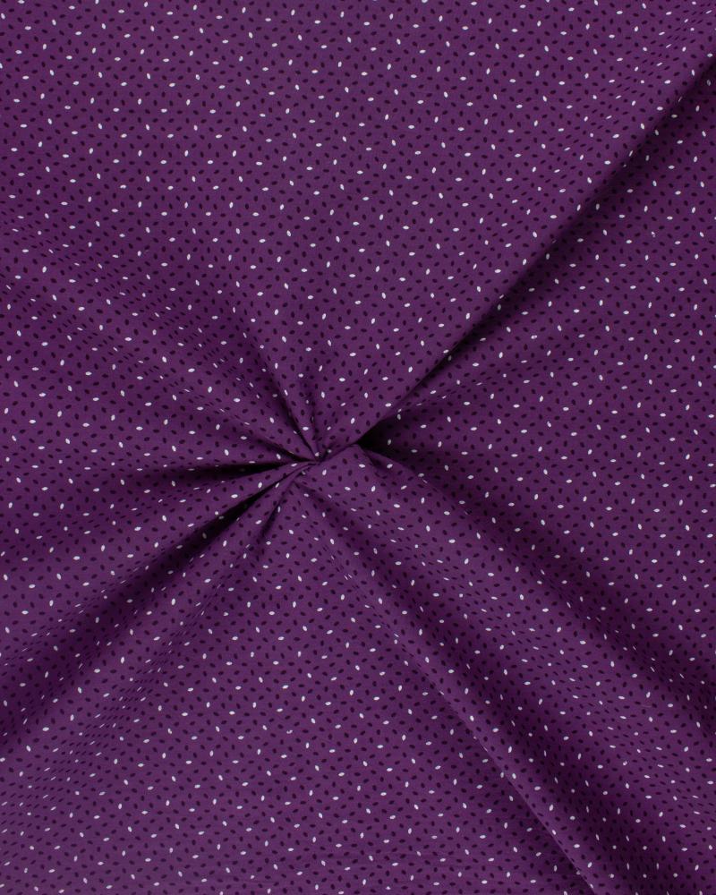 Rice Grain Printed Cotton Popelin Purple - Tissushop