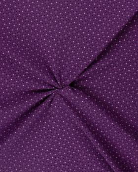 Popeline de Coton imprimée Grain de Riz Violet - Tissushop