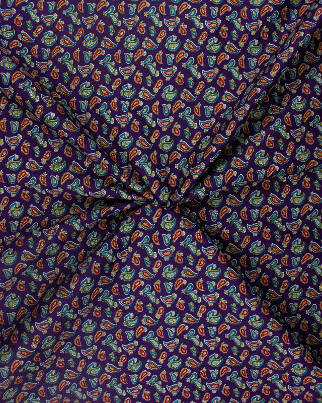 Cashmere Cotton Poplin Purple - Tissushop