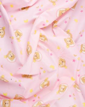 Cotton Popelin Waouh Pink - Tissushop