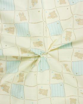 Popeline de Coton Frida Bleu Ciel - Tissushop