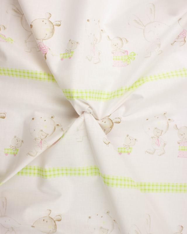 Cotton Popelin Filemon Spring Green - Tissushop