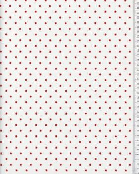 Cotton Popelin Stars Red - Tissushop
