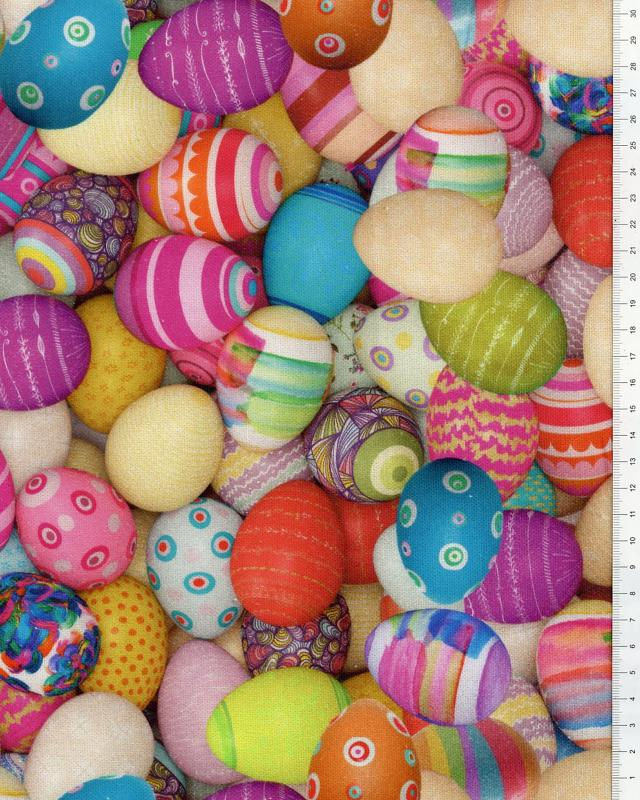 Digital printed Cotton Eggs Multicolor - Tissushop
