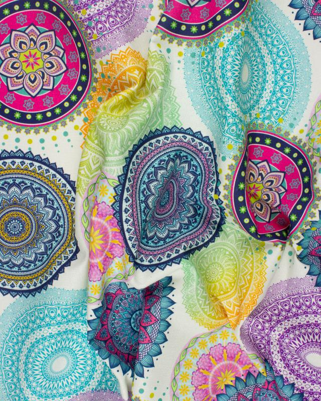 Digital Printed Cotton Mandala Blue - Tissushop