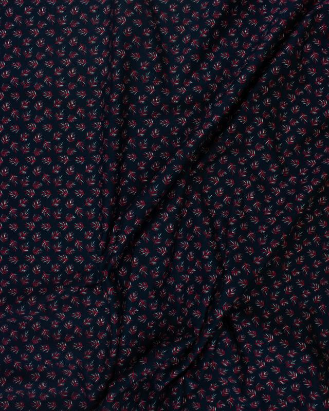 Jersey Leaves Pattern Red - Tissushop