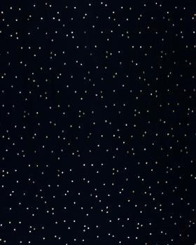 Muslin gold dots sky Black - Tissushop