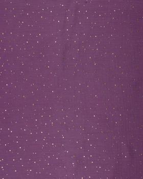 Muslin gold dots sky Strawberry - Tissushop