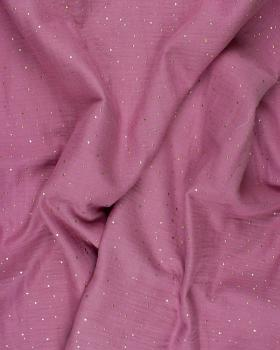 Muslin gold dots sky Pink - Tissushop