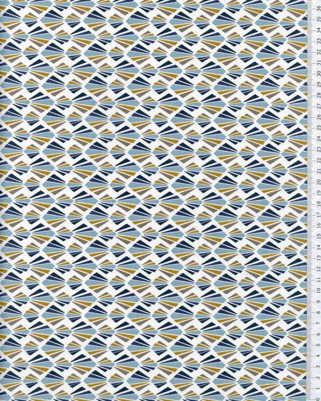 Coton Enduit Payani Bleu Marine - Tissushop