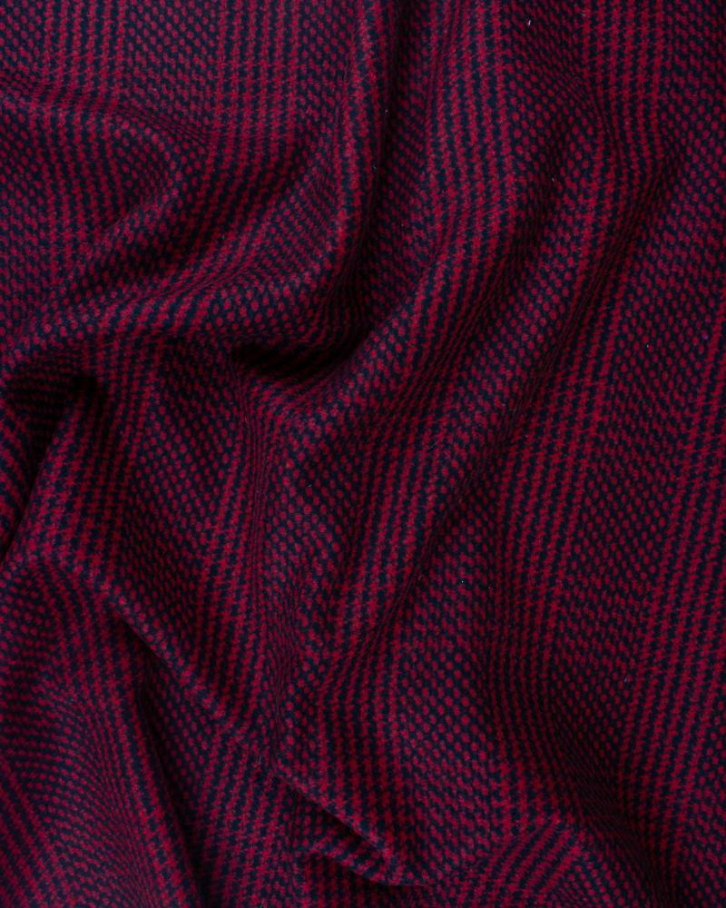 Lainage rayures Rouge - Tissushop