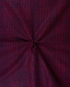 Woolen stripes Red - Tissushop