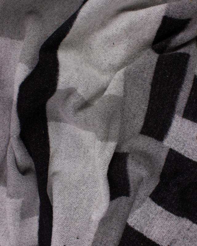 Woolen geometric Grey - Tissushop