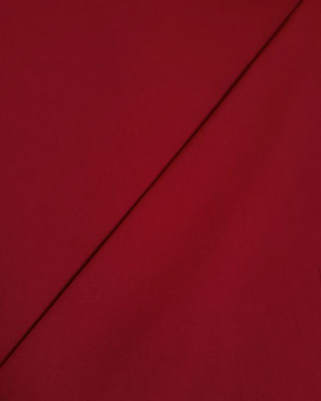Cretonne Coton Uni Bordeaux - Tissushop