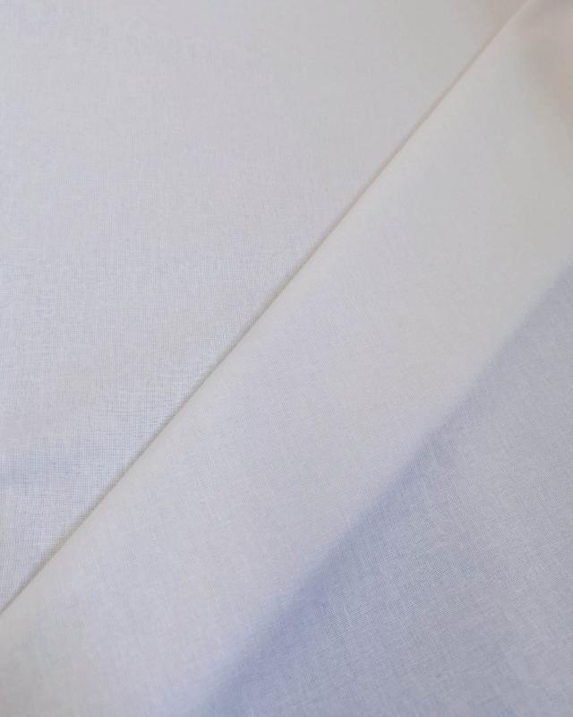 Cretonne Coton Uni Blanc - Tissushop