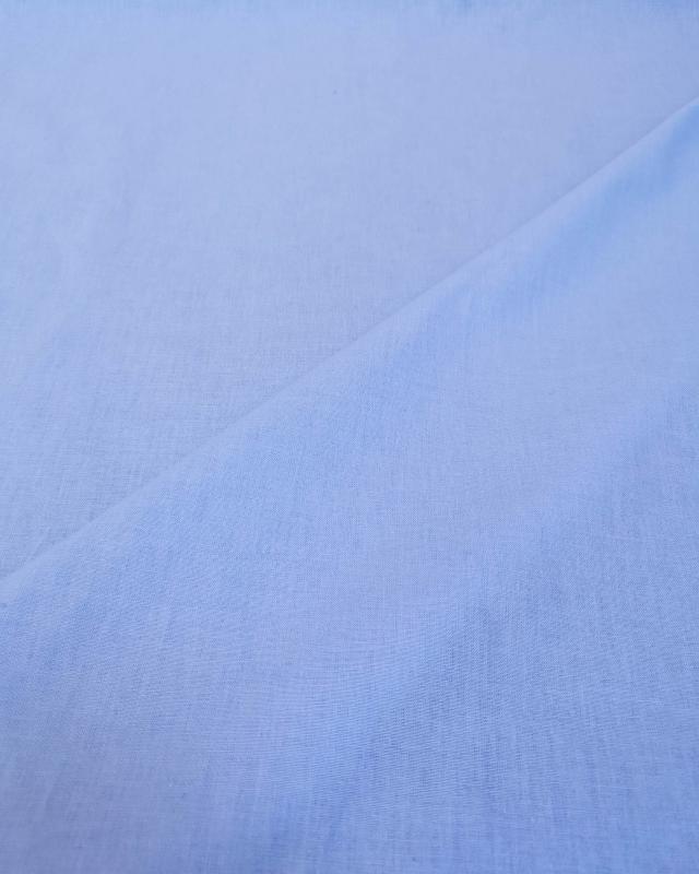 Cretonne Coton Uni Bleu Ciel - Tissushop