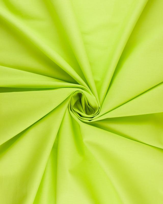 Cretonne Coton Uni Vert Spring - Tissushop