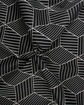 3D printed cotton Black - Tissushop