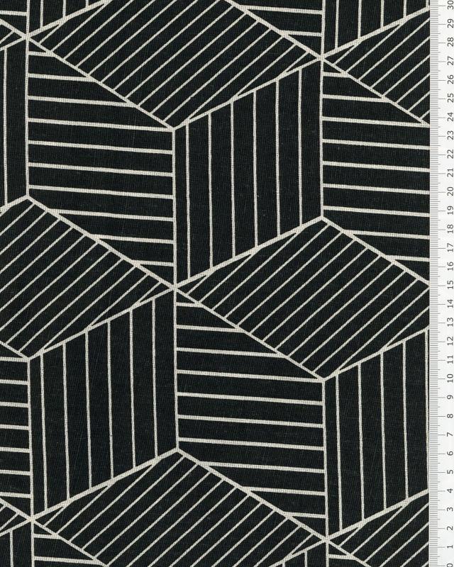 Coton 3D Noir - Tissushop