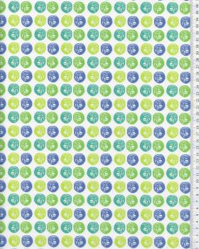 Cotton Popelin Balls Green and Blue - Tissushop