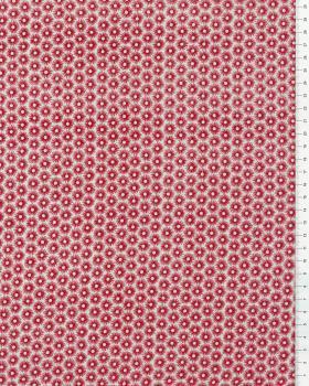 Popeline de Coton Oursins Rouge - Tissushop