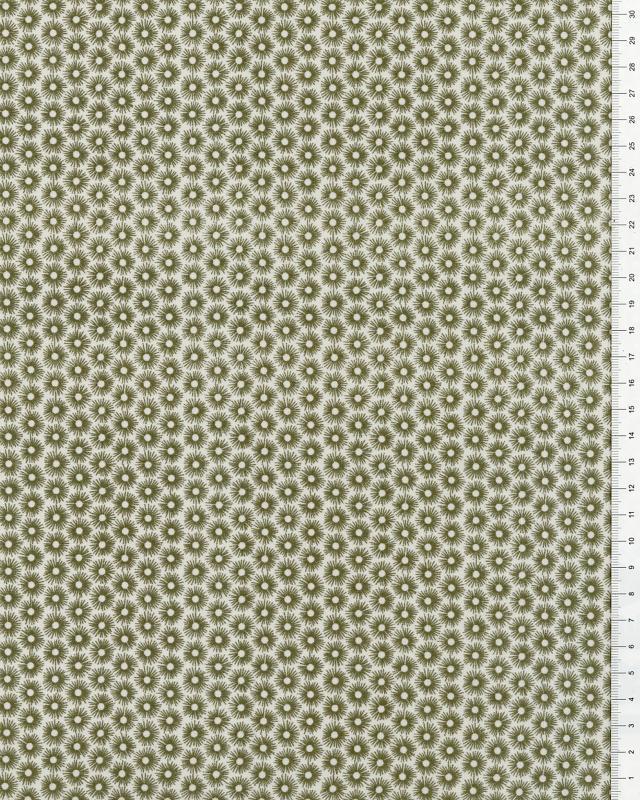 Cotton Popelin Urchins Green - Tissushop