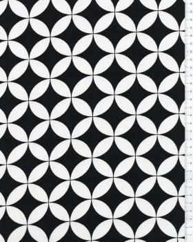 Diamond Printed Cotton Black and White - Tissushop