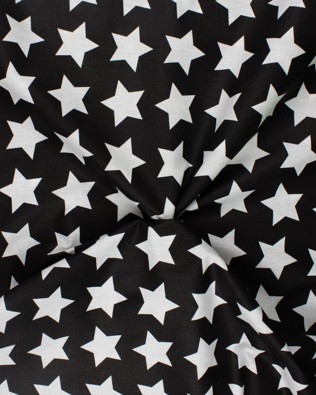 Big Star Cotton Fabric Black and White - Tissushop