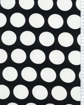 Big Dot Cotton Fabric Black and White - Tissushop