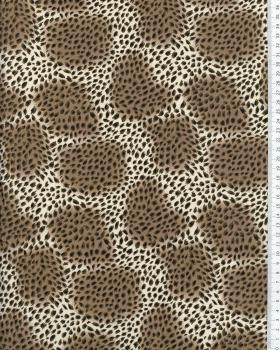 Printed Cotton Animal Skin Mocha - Tissushop
