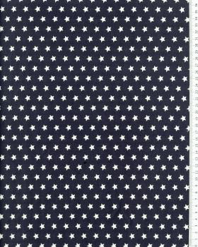 Cotton Popelin White stars on a background Dark Grey - Tissushop