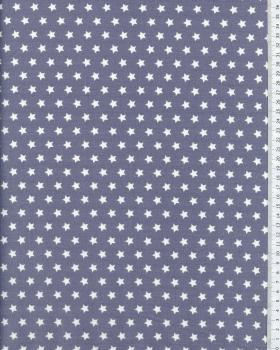 Cotton Popelin White stars on a background Light Grey - Tissushop