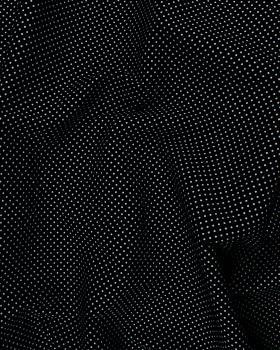 Popeline de Coton Petits Pois Blancs sur fond Noir - Tissushop