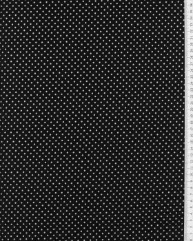 Cotton Popelin White Dot on a background Black - Tissushop