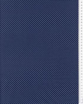 Cotton Popelin White Dot on a background Navy Blue - Tissushop