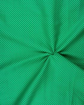 Cotton Popelin White Dot on a background Green - Tissushop